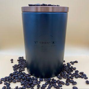 BNWB Starbucks coffee canister 16oz black/copper